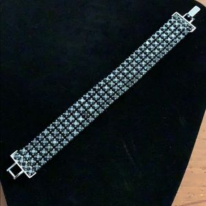 Swarovski black / gun-metal color crystal bracelet
